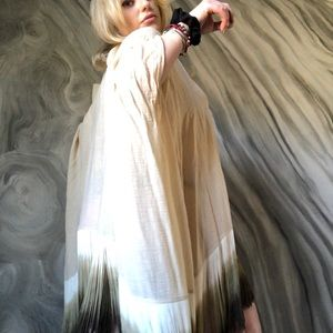 One of a kind dip dyed fringe tunic by ALEXIE